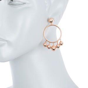 New kate new york large bauble hoop earrings